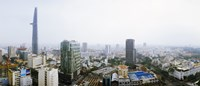 "Aerial view of a cityscape, Ho Chi Minh City, Vietnam by Panoramic Images - 21"" x 9"""