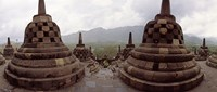 "9th century Buddhist temple Borobudur on Java Island, Indonesia by Panoramic Images - 21"" x 9"""