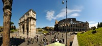 """Historic Coliseum and Arch of Constantine, Rome, Lazio, Italy by Panoramic Images - 20"""" x 9"""""""