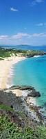 "High angle view of a beach, Makapuu, Oahu, Hawaii, USA by Panoramic Images - 9"" x 27"""