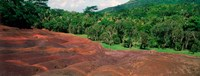 """Chamarel Coloured Earths, Mauritius by Panoramic Images - 24"""" x 9"""""""