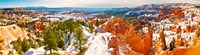 "High angle view of rock formations, Boat Mesa, Bryce Canyon National Park, Utah, USA by Panoramic Images - 33"" x 9"""