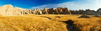 """Rock formations on a landscape, Prairie Wind Overlook, Badlands National Park, South Dakota, USA by Panoramic Images - 29"""" x 9"""""""