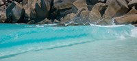 "Wave at Petite Anse, La Digue, Seychelles by Panoramic Images - 20"" x 9"""