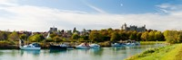 """Boats at River Arun, Arundel, West Sussex, England by Panoramic Images - 27"""" x 9"""""""