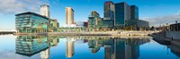 """Media City at Salford Quays, Greater Manchester, England 2012 by Panoramic Images, 2012 - 27"""" x 9"""""""