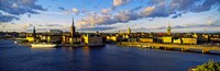 """City at the waterfront, Gamla Stan, Stockholm, Sweden by Panoramic Images - 28"""" x 9"""""""