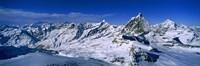 Snow Covered Swiss Alps Switzerland