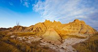 """Rock formations on a landscape, Saddle Pass Trail, Badlands National Park, South Dakota, USA by Panoramic Images - 17"""" x 9"""""""