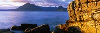 """Rock formations at coast, Elgol, Black Cuillin, Isle of Skye, Inner Hebrides, Scotland by Panoramic Images - 27"""" x 9"""""""