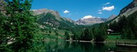 """Reflection of trees in a lake, Estenc Valley, French Riviera, France by Panoramic Images - 24"""" x 9"""" - $28.99"""