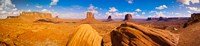 """Rock formations at Monument Valley, Monument Valley Navajo Tribal Park, Arizona, USA by Panoramic Images - 39"""" x 9"""""""