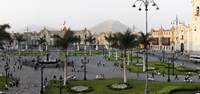 """High angle view of Presidential Palace, Plaza-de-Armas, Historic Centre of Lima, Lima, Peru by Panoramic Images - 19"""" x 9"""""""