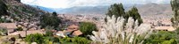 "High angle view of the city in a valley, Cuzco, Peru by Panoramic Images - 36"" x 9"""