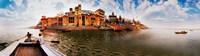 "Buildings at riverbank viewed from a boat, Ganges River, Varanasi, Uttar Pradesh, India by Panoramic Images - 32"" x 9"""