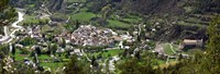 "High angle view of a town, Annot, Alpes-de-Haute-Provence, Provence-Alpes-Cote d'Azur, France by Panoramic Images - 26"" x 9"""