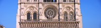 "Architectural detail of a cathedral, Notre Dame de Paris, Paris, Ile-de-France, France by Panoramic Images - 32"" x 9"""