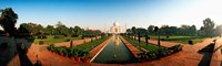 "Taj Mahal and Gardens, Agra, Uttar Pradesh, India by Panoramic Images - 30"" x 9"""