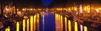 "Canal at night, Amsterdam, Netherlands by Panoramic Images - 29"" x 9"""