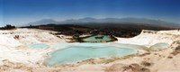 Travetine Pool and Hot Springs, Pamukkale, Denizli Province, Turkey Fine Art Print