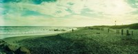 """Clouds over the Atlantic ocean, Fort Tilden Beach, Fort Tilden, Queens, New York City, New York State, USA by Panoramic Images - 23"""" x 9"""", FulcrumGallery.com brand"""