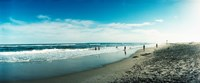 """Tourists on the beach, Fort Tilden Beach, Fort Tilden, Queens, New York City, New York State, USA by Panoramic Images - 22"""" x 9"""""""