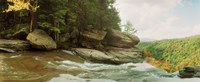 """Kaaterskill Falls in autumn, Catskill Mountains, New York State, USA by Panoramic Images - 22"""" x 9"""""""