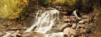 """Tourists at Kaaterskill Falls, Catskill Mountains, New York State, USA by Panoramic Images - 24"""" x 9"""""""