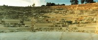 """Ancient antique theater in Kas at sunset, Antalya Province, Turkey by Panoramic Images - 22"""" x 9"""", FulcrumGallery.com brand"""