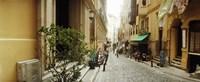 Cobblestone Street in Istanbul Turkey