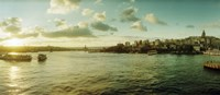 "Bosphorus Strait at sunset, Istanbul, Turkey by Panoramic Images - 21"" x 9"""
