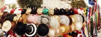 """Hats on display for sale on the street, Istanbul, Turkey by Panoramic Images - 24"""" x 9"""""""