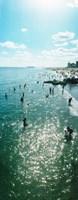 Tourists enjoying on the beach at Coney Island, Brooklyn, New York City, New York State, USA Fine Art Print