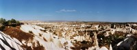 """Rock formations on a landscape, Cappadocia, Central Anatolia Region, Turkey by Panoramic Images - 25"""" x 9"""""""