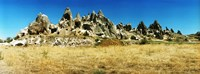 """Hill top with caves, Cappadocia, Central Anatolia Region, Turkey by Panoramic Images - 24"""" x 9"""""""