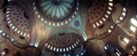 Panoramic Images of a Blue Mosque, Istanbul, Turkey Fine Art Print