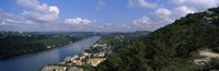 """High angle view of a city at the waterfront, Austin, Travis County, Texas, USA by Panoramic Images - 28"""" x 9"""""""