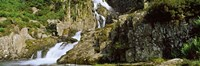 "Waterfall at Pen-Y-Pass, Snowdonia, Gwynedd, Wales by Panoramic Images - 27"" x 9"""