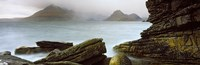 "Rock formations at coast, Black Cuillin, Elgol, Isle of Skye, Inner Hebrides, Highlands Region, Scotland by Panoramic Images - 28"" x 9"""