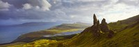 "Clouds over the Old Man of Storr, Portree, Isle Of Skye, Inner Hebrides, Highlands Region, Scotland by Panoramic Images - 26"" x 9"""