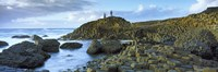 "People climbing on rocks at Giant's Causeway, Bushmills, County Antrim, Northern Ireland by Panoramic Images - 28"" x 9"""