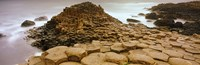 "Hexagonal rock at Giant's Causeway, Bushmills, County Antrim, Northern Ireland by Panoramic Images - 28"" x 9"""