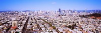 """Houses in a city, San Francisco, California, USA 2012 by Panoramic Images, 2012 - 27"""" x 9"""", FulcrumGallery.com brand"""
