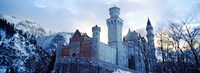 """Neuschwanstein Castle in winter, Bavaria, Germany by Panoramic Images - 25"""" x 9"""", FulcrumGallery.com brand"""