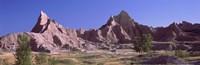 "Mountains at Badlands National Park, South Dakota, USA by Panoramic Images - 28"" x 9"""