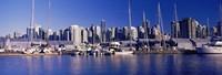 "Boats at a marina, Vancouver, British Columbia, Canada 2013 by Panoramic Images, 2013 - 26"" x 9"""
