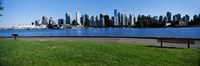 """River walk with skylines in the background, Vancouver, British Columbia, Canada 2013 by Panoramic Images, 2013 - 28"""" x 9"""""""
