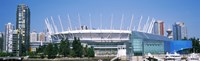"""Stadium at the waterfront, BC Place Stadium, Vancouver, British Columbia, Canada by Panoramic Images - 29"""" x 9"""""""