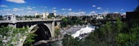 """Monroe Street Bridge with city in the background, Spokane, Washington State, USA by Panoramic Images - 27"""" x 9"""", FulcrumGallery.com brand"""