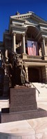 "Statue at Wyoming State Capitol, Cheyenne, Wyoming, USA by Panoramic Images - 9"" x 26"""